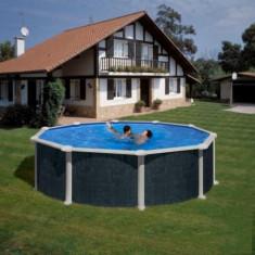 Piscina prefabricata rotunda Gre - 460 x h 132cm - KITPR458NRT