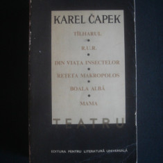 KAREL CAPEK - TEATRU - Carte Teatru