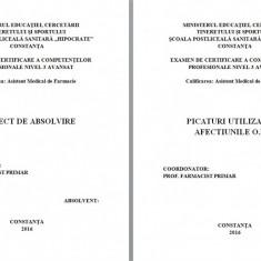 LUCRARE DE LICENTA AMF – PICATURI FOLOSITE IN AFECTIUNILE ORL - Carte Farmacologie