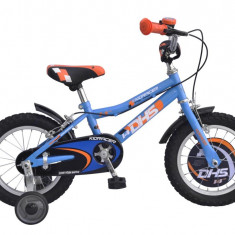 KID RACER 1403 - model 2015-Alb - Bicicleta copii DHS