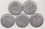 Bnk mnd Franta  lot 8 monede 5 franci , ani diferiti , stare vf-xf, Europa, Nichel