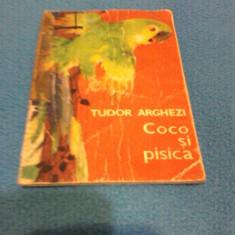 COCO SI PISICA TUDOR ARGHEZI, ILUSTRATII SILVIA CAMBIR, EDITURA TINERETULUI 1968 - Carte de povesti