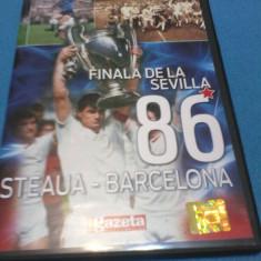 FINALA DE LA SEVILLA 86 STEAUA - BARCELONA DVD - DVD fotbal