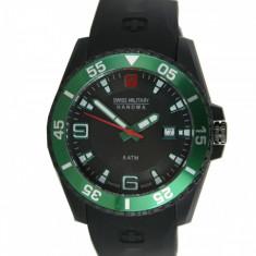 Ceas barbatesc Swiss Military Hanowa - NOU !!!, Lux - sport, Cauciuc, Cronograf