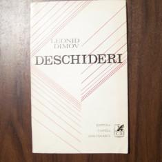 Deschideri - Leonid Dimov (prima editie, 1972) - Carte Editie princeps