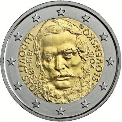 SLOVACIA moneda 2 euro comemorativa 2015, STUR - UNC foto