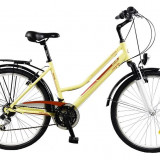 Bicicleta TRAVEL 2654 - model 2015-Alb-Albastru-430 mm - Bicicleta de oras DHS
