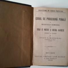 Ioan C. Barozzi - Codul de procedura penală (1910) - Carte Drept penal