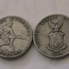 MOKAZIE 5 centavos Filipine 1944 dominatie SUA, Australia si Oceania