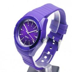 Ceas de dama ESPRIT Play Solid Purple - NOU !!! - Ceas dama Esprit, Lux - sport, Quartz, Plastic, Cauciuc, Analog