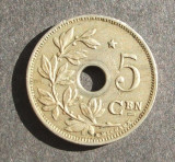 BELGIA 5 CENTIMES 1930 / VARIANTA CU STEA, Europa