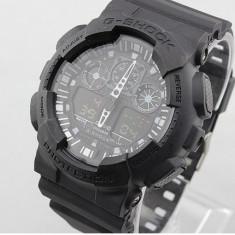 CASIO G-Shock GA 100, All Black - Ceas barbatesc Casio, Mecanic-Manual