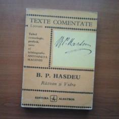 TEXTE COMENTATE - B. P. HASDEU - RAZVAN SI VIDRA ( 3041 ) - Studiu literar