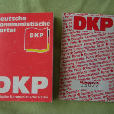 Carnet de Partid DKP - Partidul Comunist German - Pasaport/Document, Europa