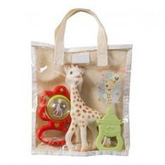 Set cadou saculet Vulli Girafa Sophie - Jucarie interactiva