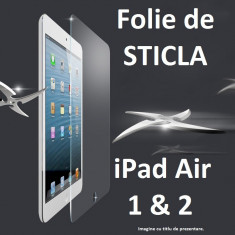 FOLIE de STICLA Apple iPad Air 1 & 2 0.4mm tempered glass antisoc PROTECTIE - Folie protectie tableta, 9.7 inch