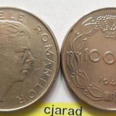 Lot/ Set Monede 100 Lei- Romania 1943 + 1944 CALITATE *cod 2263 - Moneda Romania