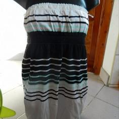 Rochie, rochita de dama, ideala plaja, cu umerii goi, Gina Tricot, marimea M-L - Rochie de zi, Marime: M, Culoare: Din imagine, Midi, Fara maneca, Bumbac