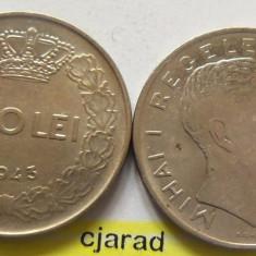 Lot/ Set Monede 100 Lei- Romania 1943 + 1944 CALITATE *cod 2264 - Moneda Romania