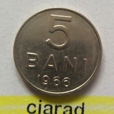 Moneda 5 Bani - RS Romania 1966  *cod 1576 XF