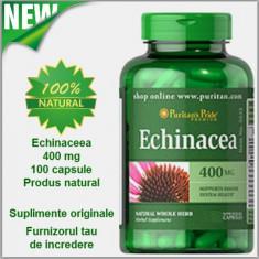 Echinaceea 400 mg Sprijina Sistemul Imunitar Livrare cu Fan Courier 15 lei - Produs sporirea imunitatii