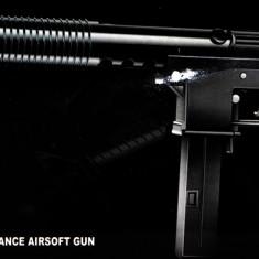PUSCA AIRSOFT REPLICA UZZY 6mm,PROPULSIE SPRING PE ARC +1000 BILE BONUS!