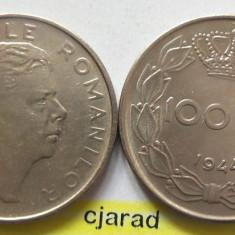 Lot/ Set Monede 100 Lei- Romania 1943 + 1944 CALITATE *cod 2267 - Moneda Romania