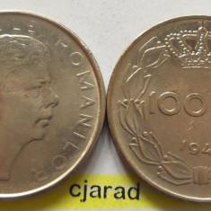 Lot/ Set Monede 100 Lei- Romania 1943 + 1944 CALITATE *cod 2266 - Moneda Romania