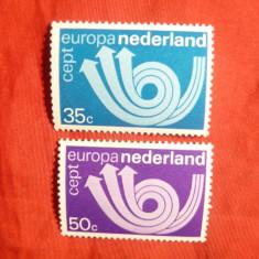 Serie Europa CEPT 1973 Olanda, 2 val. - Timbre straine, Nestampilat