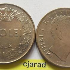 Lot/ Set Monede 100 Lei- Romania 1943 + 1944 CALITATE *cod 2260 - Moneda Romania