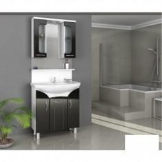 Mobilier de baie Opal negru - baza + corp suspendat - Corp baie