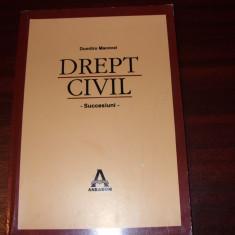 DREPT CIVIL. SUCCESIUNI - Dumitru Macovei ( stare foarte buna ) * - Carte Jurisprudenta