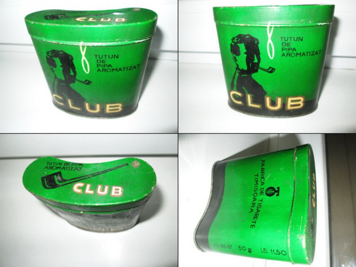 CUTII TIGARETE-TUTUN2-CEAI vechi. Cutie tutun metalica veche- Club Timisoara