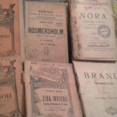 NORA (CASA DE PAPUSI) DE HENRIK IBSEN, INTERBELICA, 144 PAG STARE BUNA - Carte veche