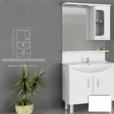Mobilier de baie Adora alb - baza + corp suspendat - Corp baie