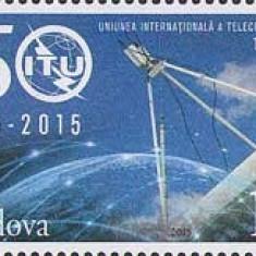 MOLDOVA 2015, Aniv. Uniunea Internationala a Telecomunicatiilor, serie neuzata, Nestampilat