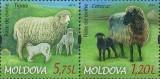 MOLDOVA 2014, Fauna - Rase de oi, serie neuzata, MNH, Nestampilat