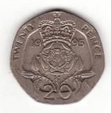 Marea Britanie 20 pence 1995 , moneda heptagonala - KM# 939