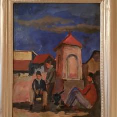 Veche pictura semnata - Balcic, Scene gen, Ulei, Altul