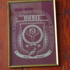 Reclama material textil / rama de lemn cu sticla - Diesel automatic transmission - Reclama Tiparita