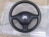 Volan piele cu airbag SEAT LEON /TOLEDO 1999-2000-2001-2002-2003-2004-2005-2006, LEON (1M1) - [1999 - 2006]