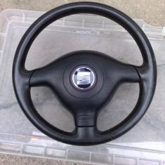 Volan piele cu airbag SEAT LEON /TOLEDO 99-06, LEON (1M1) - [1999 - 2006]