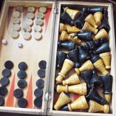 Joc sah table, piese vechi