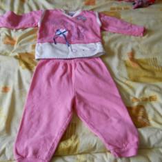 Trening roz aproape nou, bumbac 100%, grosut pentru fetite 1-2 ani, Fete