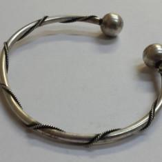 Bratara argint TRIBALA veche reglabila Vintage executata manual de Efect Superba