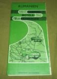 Harta turistica Romania limba germana perioada RSR