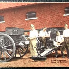 CARTE POSTALA Militari si tunuri din WW I primul razboi mondial **, Necirculata, Printata