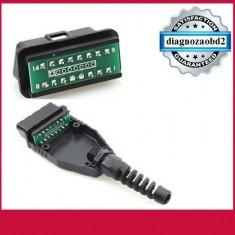 Mufa tester diagnoza auto OBD2 goala cu 16 pini  pt. diagnoza auto  GPS