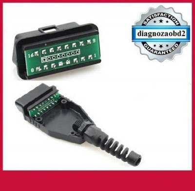 Mufa tester diagnoza auto OBD2 goala cu 16 pini  pt. diagnoza auto  GPS foto