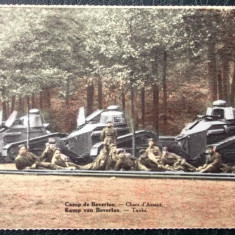 CARTE POSTALA Militari si tancuri din WW I primul razboi mondial **, Necirculata, Printata
